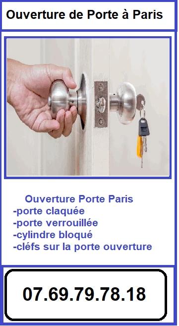 ouverture Porte Paris, Porte claquée,Porte verrouillée,cylindre bloqué,cléfs sur la porte ouverture